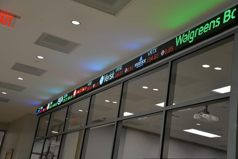 Leadleds Electronic Led Ticker Tape Display  Board Digital Signage For Stock Market Finacial News