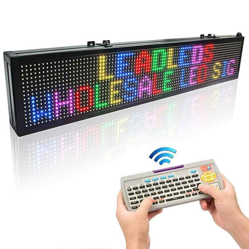 Leadleds 21 in Remote Control Led Sign Board Multicolor Message Display
