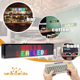 Leadleds Remote Led Display Scrolling Multicolored Message Board for Business, 30 by 6 in - Leadleds