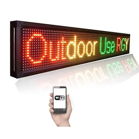 Leadleds 1.36M Outdoor Led Signs WiFi Led Display Programmable Message Sign for Business and Store - Leadleds