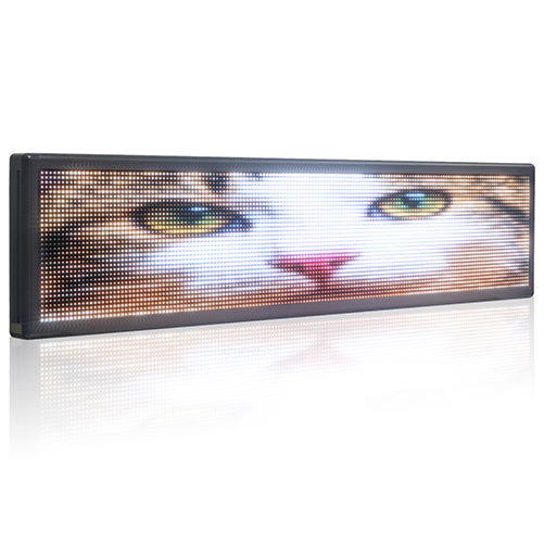 66x15in Electronic Led Panel Outdoor Waterproof Full Color Super Bright Message by LAN Programming