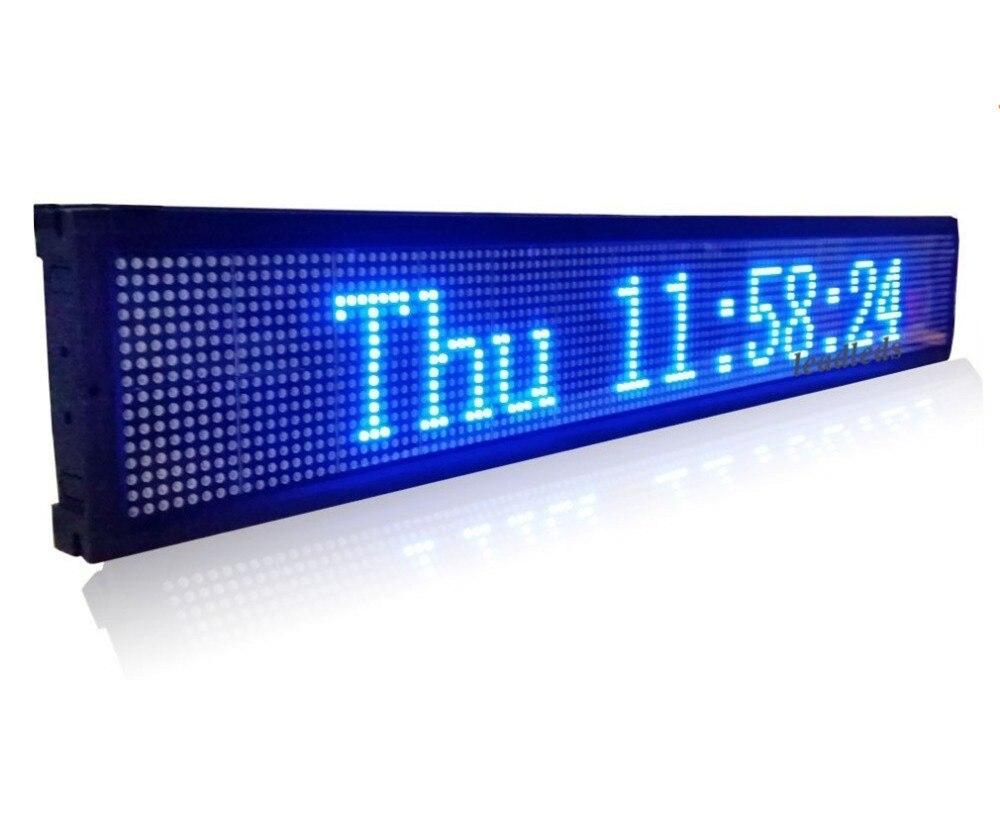 USB Programmable advertising LED Display Sign Board Pure Blue Color Display _ Leadleds
