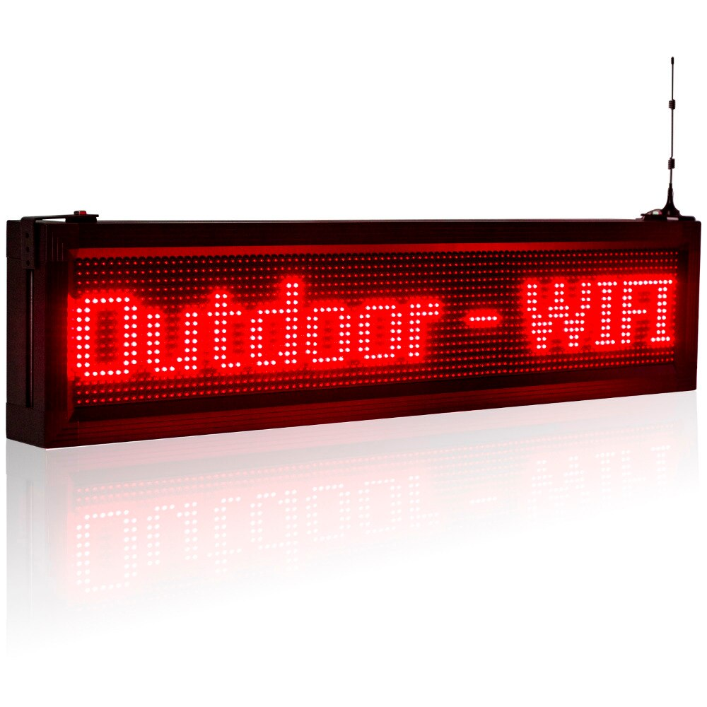 "40"" Outdoor Led Sign Board Phone WiFi Fast Programmable Super Bright Message Board _ Leadleds"
