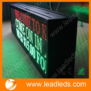 40-inch P10MM Outdoor Waterproof IP65 Double-Sided Display Programmable RGY 3 Color LED display sign board quick program via LAN - Leadleds