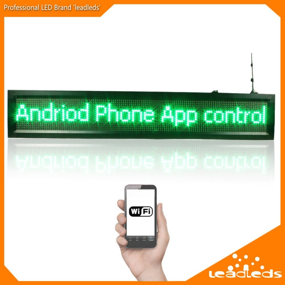 Leadleds 64 x 224cm Outdoor LED Display Tricolor DIP Super Bright by Smart Phone WiFi Program - Leadleds
