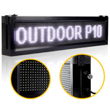 Leadleds Super Bright Storefront Led Sign Waterproof Scrolling Message Board for your store, White - Leadleds