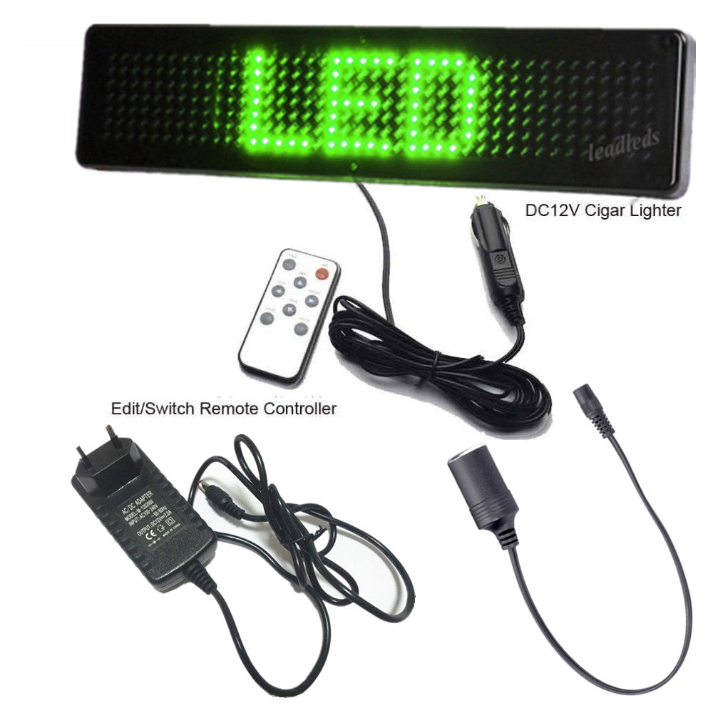 Leadleds Led Banner for Car Promotional Advertising Scrolling LED Sign Remote Programmable - Leadleds