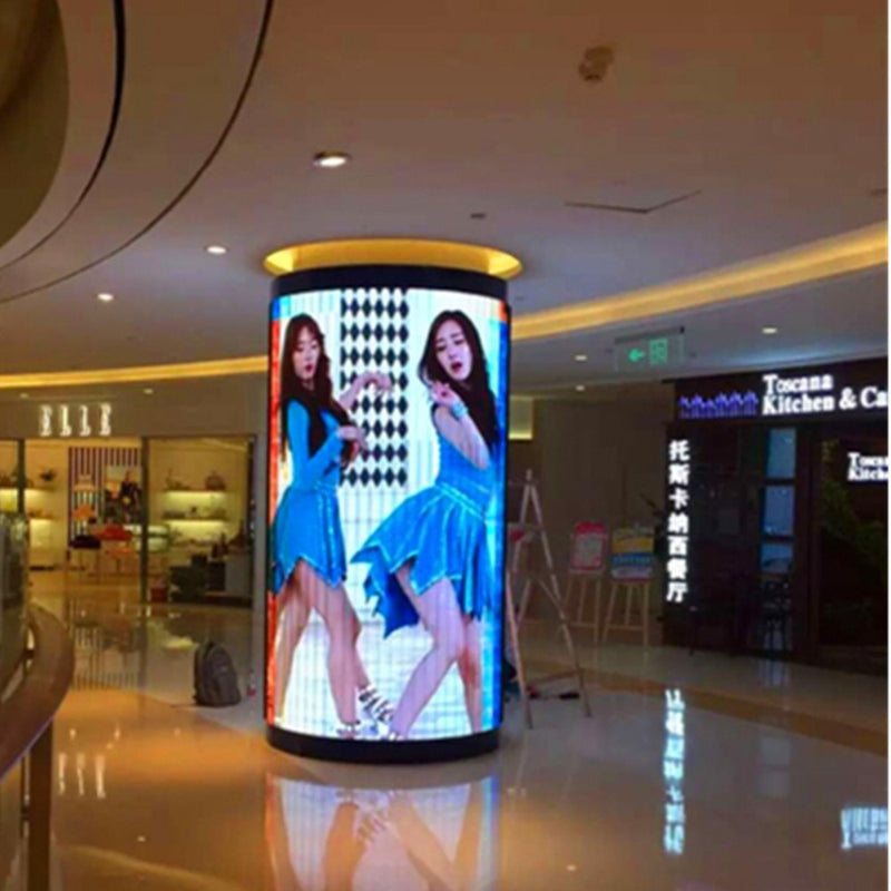 Custom  P6 indoor full color LED electronic display screen / Cylindrical LED sign / Three-dimensional  advertising screen - Leadleds