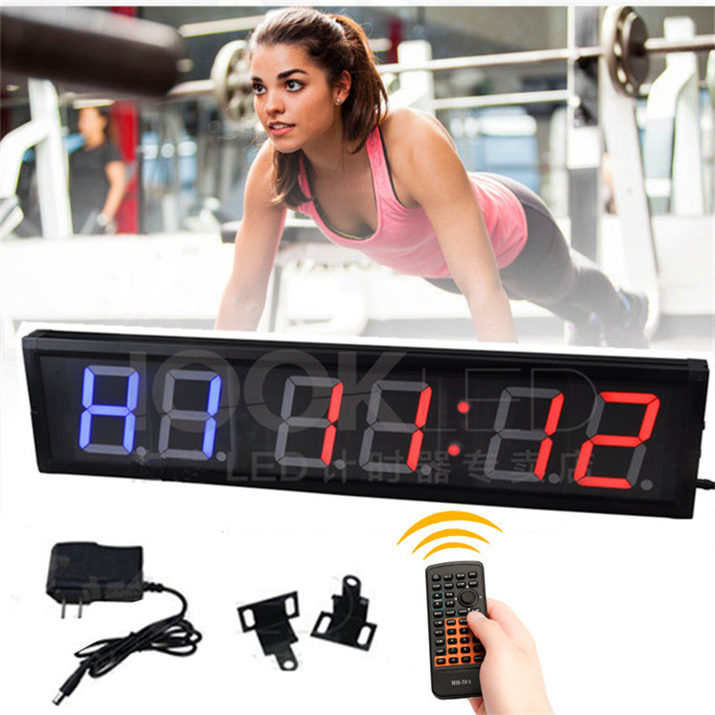 "4"" remote control Countdown clock Gym boxing guitar stopwatch countdown Interval Timer  timer TABATA, FGB, MMA1, MMA2 4 Training - Leadleds"