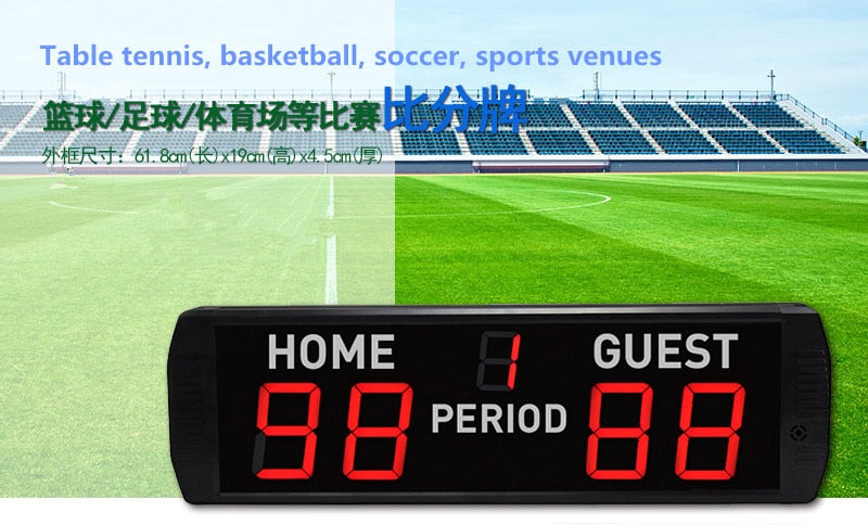 4inch Game electronic LED Digital score board basketball badminton PingPong table tennis scoreboard Tennis wireless remote contr - Leadleds