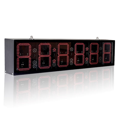 82cm Double-Sided RF Control Outdoor Waterproof Suspension LED Game Clock Display Marathon Basketball Football Training Timer - Leadleds