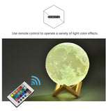 Leadleds Rechargeable 3D Moon Light USB LED Night Light Touch Switch for Baby Kids Children Gifts - Leadleds