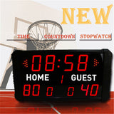 Basketball Time stopwatch electronic scoreboard football table tennis badminton game scoreboard multi - function countdown card - Leadleds