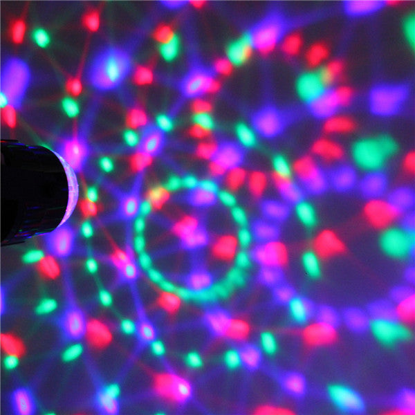 LED Stage Light 3W RGB LED Crystal Magic Ball Stage Effect Lighting Lamp Party Disco Club DJ Bar Light Show Lumiere Lamp - Leadleds