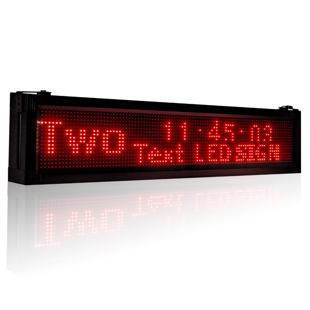 40inches waterproof Outdoor P10 Local area network (LAN) rapid Programmable Led Sign Scrolling Message Board for Your Business - Leadleds