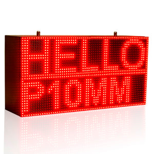 32*64cm Red Strong Programmable Led Sign with Scrolling Message Display For P10 FULLY Outdoor Use led display - Leadleds