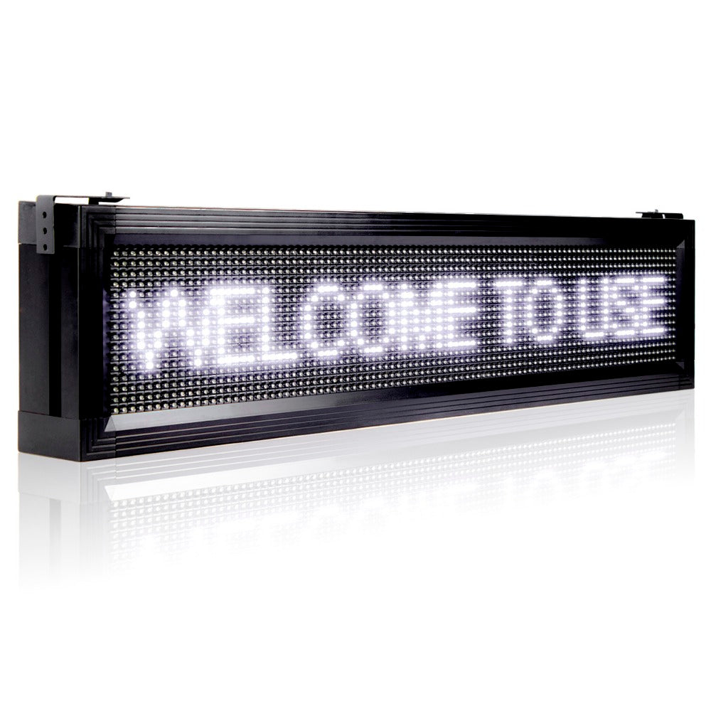 Leadleds P10 Outdoor LED Sign Waterproof Scrolling Message Display Board for Your Store, White - Leadleds