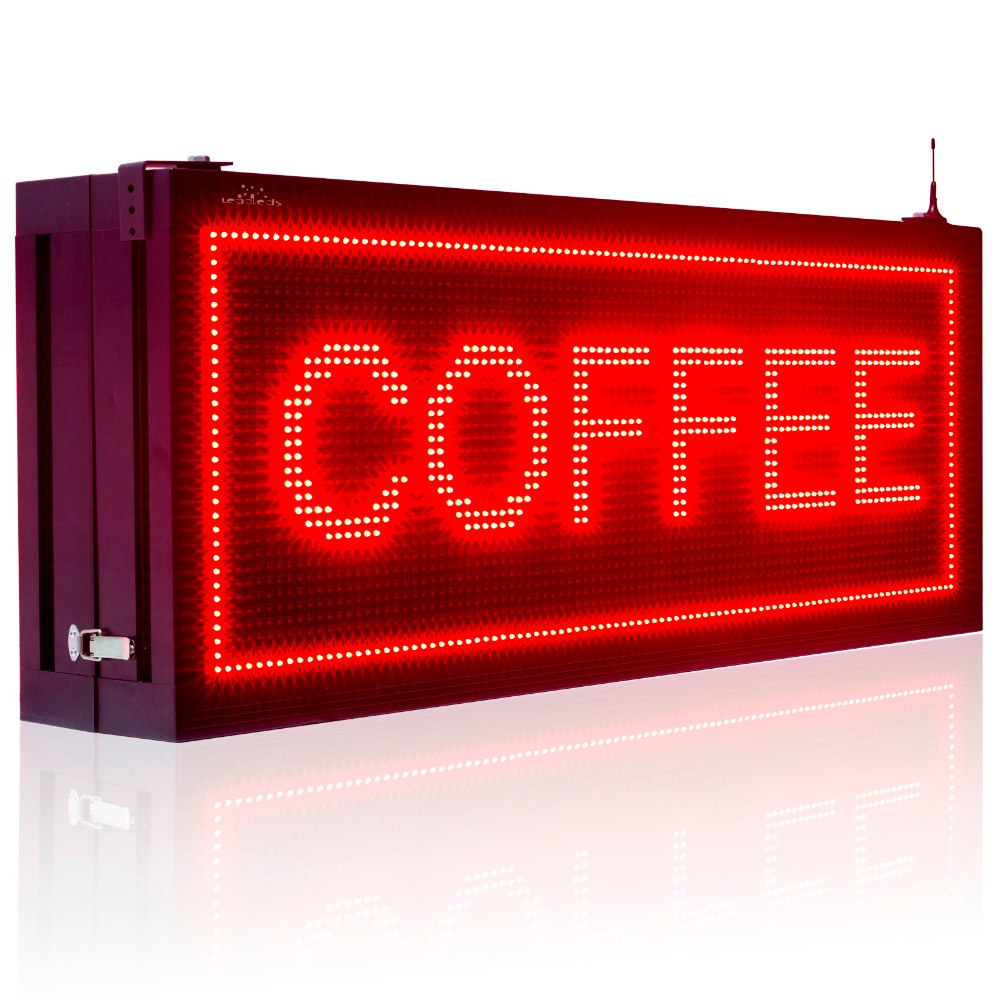 Leadleds 104cm Double Sided Outdoor Led Display Board Waterproof WiFi Programmable Scrolling Led Sign for Storefront Business - Leadleds