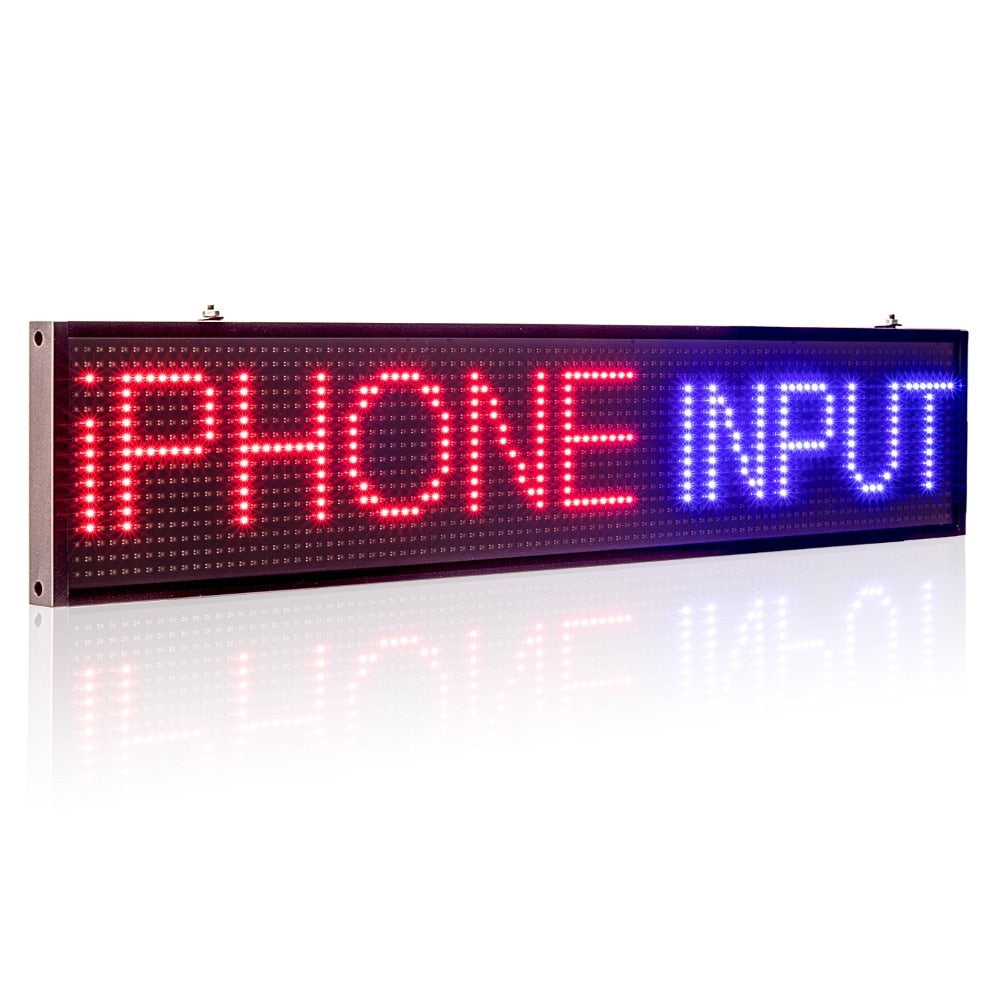 Leadleds RGB LED Window Signs Scrolling Message Program by Your Phone for Store Office Shop Retails - Leadleds