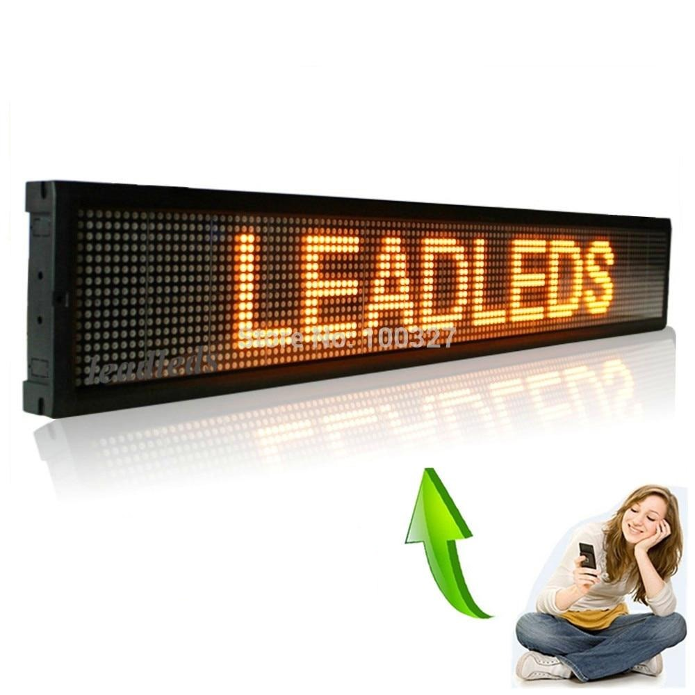 ios Mobile phone Wifi Remote Programmable Advertising LED Display Board for Car bus truck shop Busines - Leadleds