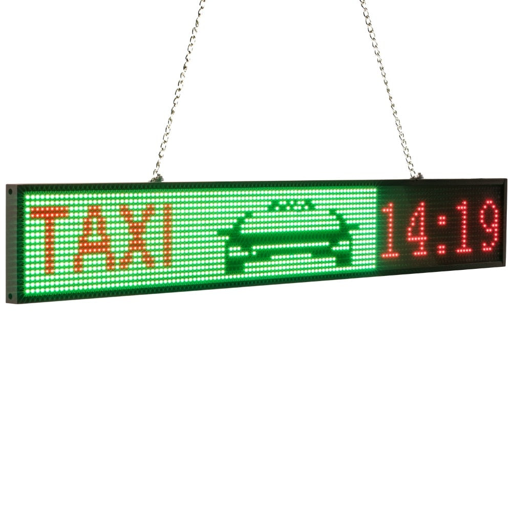 New 82cm P5 RGB Sign Full color SMD2121 Car LED display board indoor Time Countdown Scrolling text Message advertising Screen - Leadleds