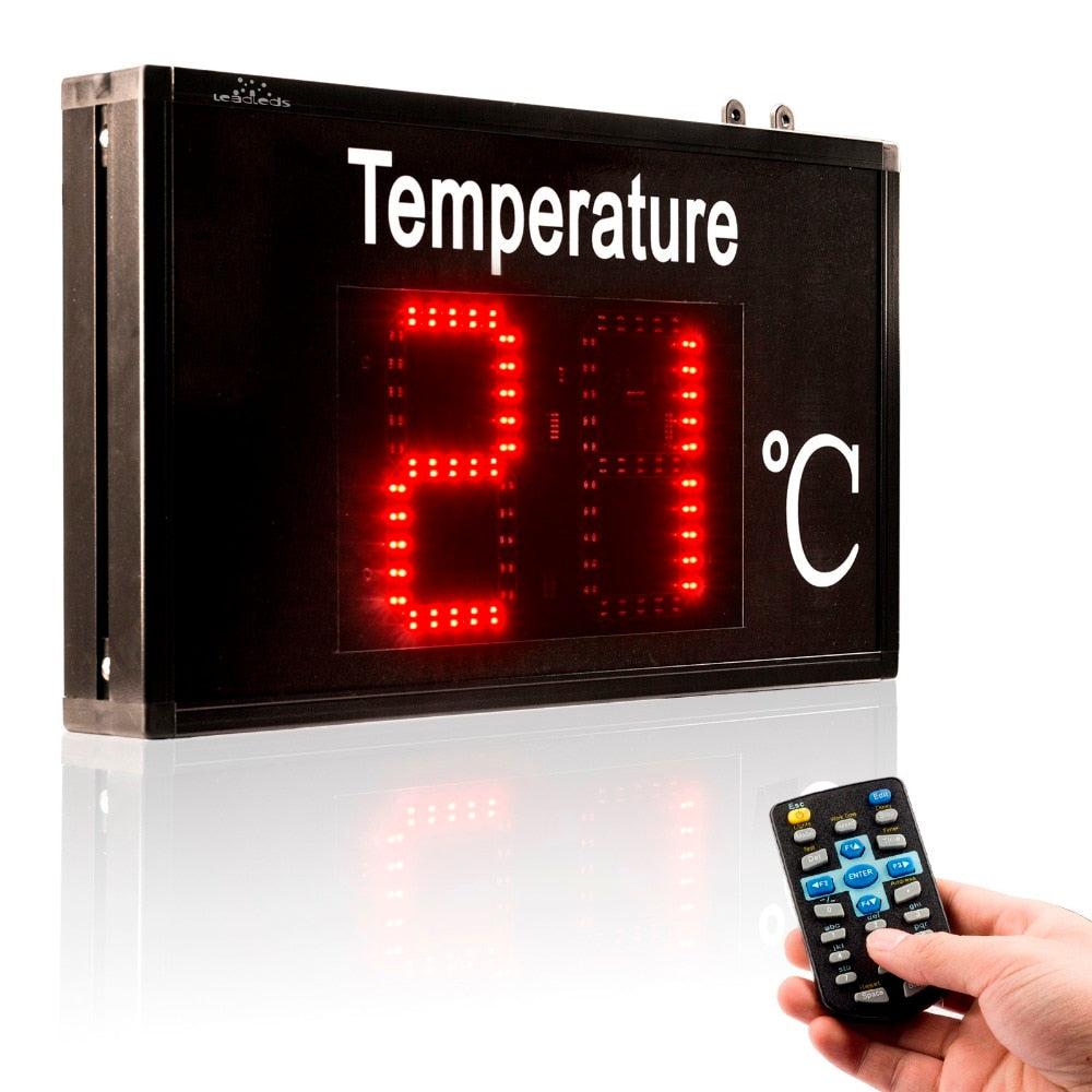 Leadleds Thermometer Industrial Temperature Display High Precision for Factory Workshop Warehouse - Leadleds