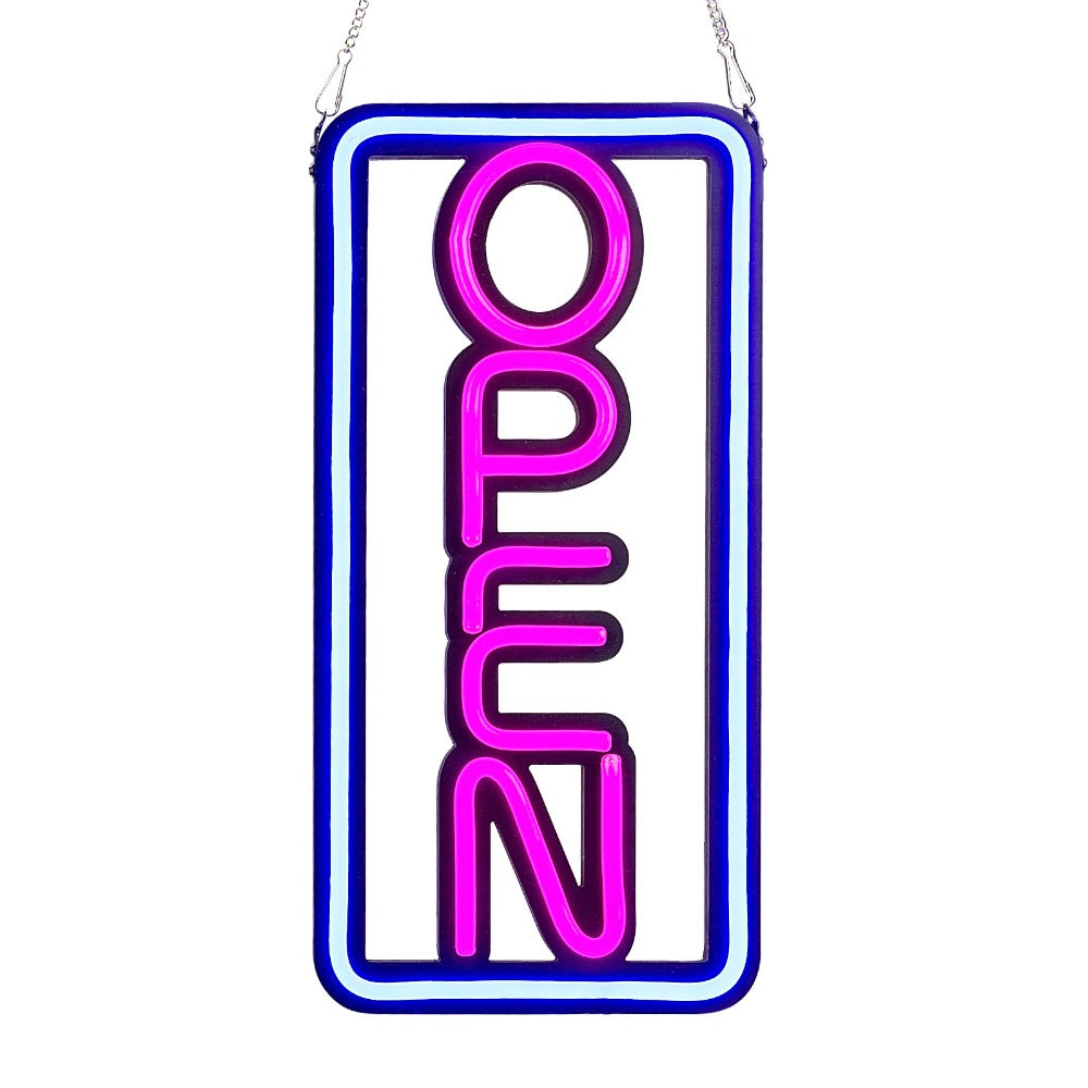 Leadleds Led Open Sign Bright Pink and Blue Color for Kebab Bar Café Restaurant Beer Salon - Leadleds