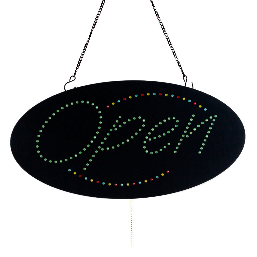 Leadleds Neon Open Sign Multicolor 3 Light Modes for Beauty Salon Nail Sushi Bakery Barber Massage - Leadleds