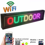 iOS Outdoor Signs with Temperature Sensor Multi Color Yard Signs by Your Phone Programming Message - Leadleds