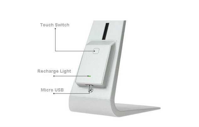 Ultra-thin Portable Lamp Eye-Protection LED Table Light 3 Modes Fashion USB Charging Desk Lamp Smart Touch Folding Night Light - Leadleds