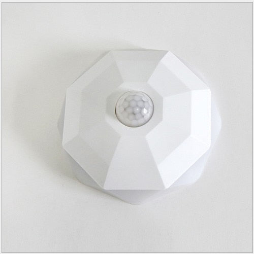 New Night Light LED Diamond NightLight PIR Intelligent Human Body Motion Induction Wall Lamps Hallway Closet Pathway Staircase - Leadleds