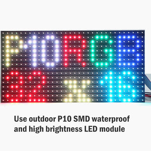 28x16inch Full Color RGB Outdoor Waterproof 10MM HD Wifi+U disk Programmable Scrolling Message Street Multi-line Led Sign board - Leadleds