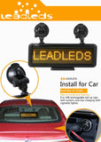 "17"" RED LED Car Display USB Rechargeable Led Business Sign LED Programmable Message Sign - Leadleds"