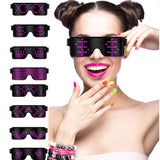 Leadleds 8 Modes Animation Flash Led Party Glasses USB charge DJ Luminous Glasses Concert light