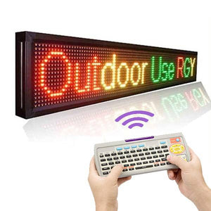 Leadleds 2.6M Remote Led Sign Outdoor Waterproof Display 3 Colors Program Message by Keyboard - Leadleds