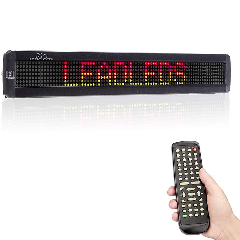 Remote led sign board scrolling tricolor message