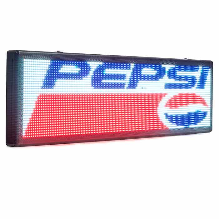 Leadleds Full Color Car Sign Programmable by WiFi, 762 x 274 mm