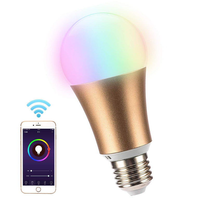 Leadleds WiFi Smart LED Light Bulb Multi-Color Dimmable Compatible with Alexa & Google Assistant - Leadleds