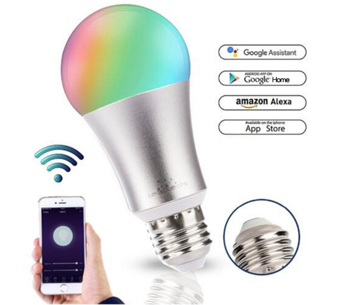 Leadleds WiFi Smart  Home Lights Multi-Color Dimmable Compatible with Alexa & Google Assistant - Leadleds