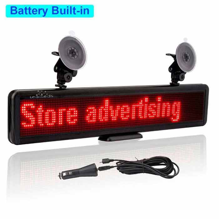 Battery Powered Led Signs Scrolling Advertising Led Panel Display Board Multi-purpose - Leadleds
