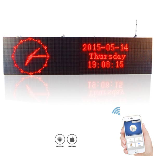 Leadleds Bigger Sign 2.88 x 0.96M Outdoor LED Screen Waterproof RGY DIP Super Bright WiFi Program Message