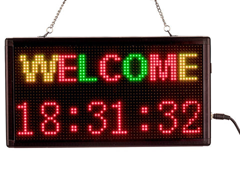 "Leadleds 13""x7"" Message Board WiFi LED Sign Programmable by Phone, 3 Colors - Leadleds"