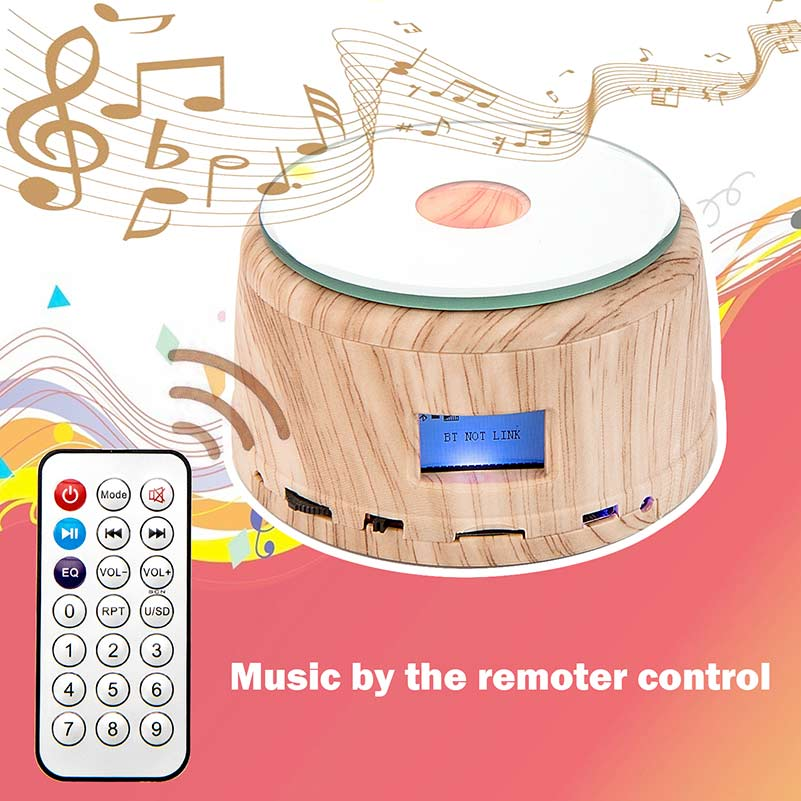 Customized Gifts Night Light Music Box Rotary Display Stand Remote Control, Full Color Crystal Photo
