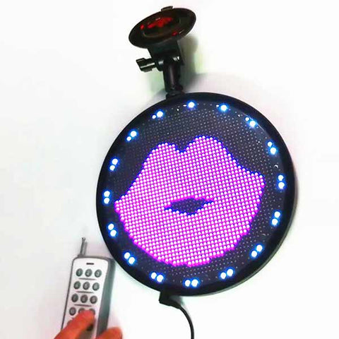 Car Sign DC12V Round Shaped Full Color Animation Led Display by Phone Program