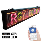 Leadleds 50 inches Length Indoor Led Sign Board WiFi Led Display Programmable Message Sign Tricolor for Office Store Wall Window - Leadleds