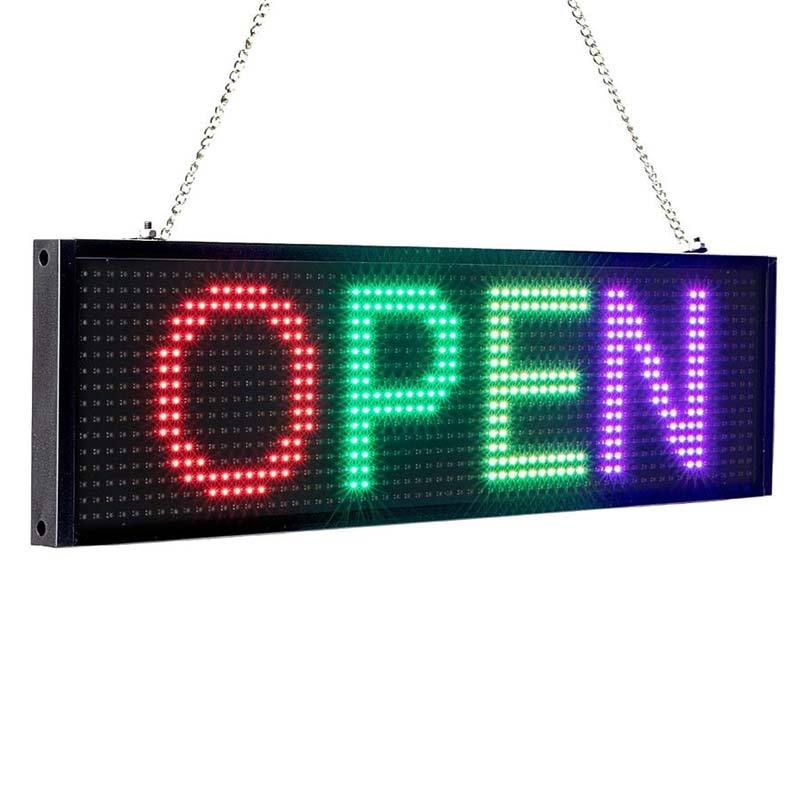 DC12v Full Color LED Display Programmable Scrolling Message Board Control by IOS Android Phone - Leadleds