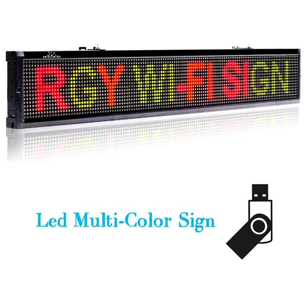 Leadleds 40 inches Led Billboard WiFi Programmable 3 Colors Message Digital Signage wholesale