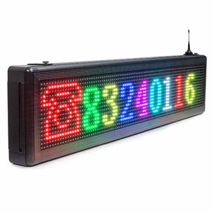 Full Color Led Display Outdoor Waterproof iOS Android Program with Temperature Sensor - Leadleds