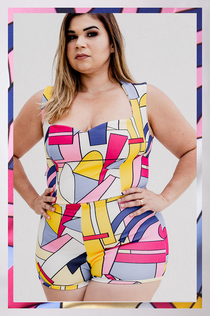 Cropped Plus Size Estampado