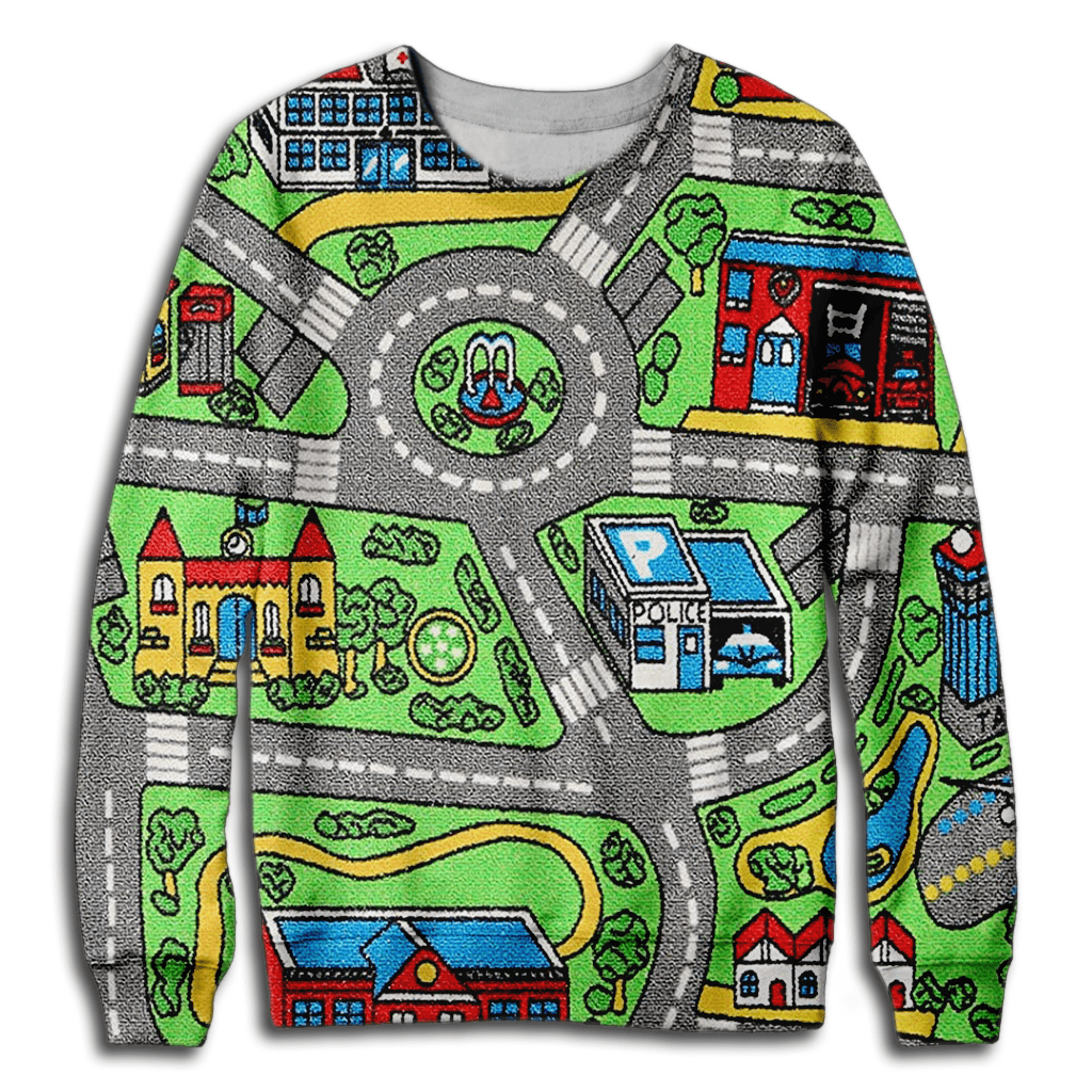 Toy Car Carpet Sweatshirt